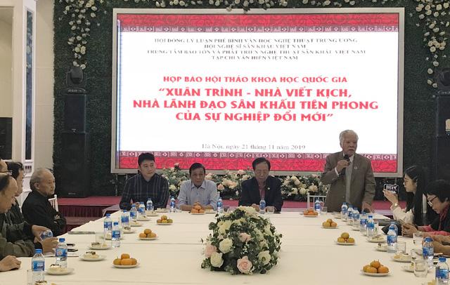 """Hội thảo khoa học Quốc gia """"Xuân Trình – Nhà viết kịch, nhà lãnh đạo sân khấu tiên phong của sự nghiệp đổi mới"""""""